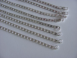 wholesale 20'' 4mm Mens Necklace 925 sterling silver link chains n132 gift pouches free shipping wholesale