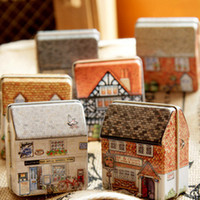other colored full housing - Kka luck shop mini full colored drawing small house tin storage box jewelry box hot selling
