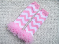 Wholesale 10pcs baby girls leg warmers with lace rufflers leggings chevron tights baby socks wesdzx