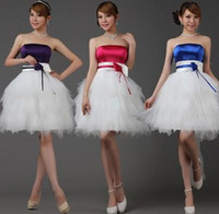 beautiful wedding toasts - The new super beautiful bride wedding toast dress Bridesmaid Dress Costume Party Dress