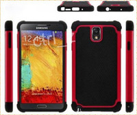 Plastic For Samsung  hybrid 2 in 1 PC+ silicone case cover for samsung note 3 n9000 many color cheap