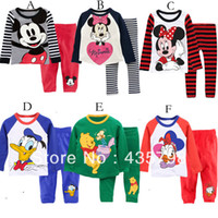Wholesale Honest seller Boy s Cartoon characters long woolly coat pants