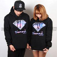 Wholesale Diamond sweatshirt diamond tie dyeing lovers sports casual skateboard hoodie