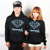 Wholesale Diamond sweatshirt diamond tie dyeing lovers sports casual skateboard hoodie Tate