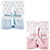 Wholesale 2pcs USA Hudson Baby Pack Muslin Swaddle Blanket newborn holds blankets baby sleeping bag
