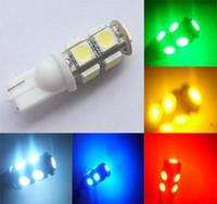 Wholesale 200pieces T10 LED SMD CAR Wedge Reading Door LED Automotive Lights White Red Blue interior work light bulb