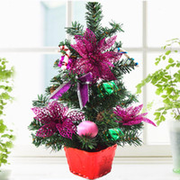 other   45cm bronzier rose flower mini desktop christmas tree bonsai christmas tree decoration Christmas