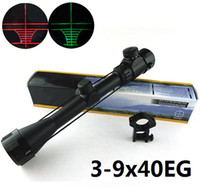 Wholesale 3 x40eg Illuminated red green RIFLESCOPE HUNTING RIFLE SCOPE with mounts