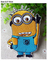 Wholesale Despicable Me minion Beedo Embroidered Iron On Patch Applique Badge KIDS Patch Applique