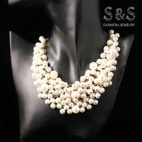 Wholesale Fashion romantic women pearl statement vintage collar necklace pearl necklace