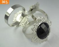 Wholesale 30 OFF Black Gem Napkin Rings Wedding Party Bridal Shower Favour Favor Decorations Supplies