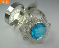 Wholesale 30 OFF Super Hot Item Aqua Blue Gem Napkin Rings Wedding Bridal Shower Favour