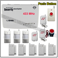 Wholesale FREESHIPPING WIreless GSM Home Burglar Alarm Security System Auto Dialer Voice PIR Sensor DIY