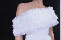 Wholesale Custom Made New Bridal Jackets Organza Bolero Unique Design How Sale Wedding Dress Wraps Shrug Shawl