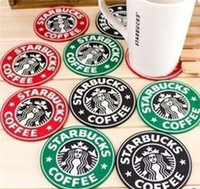 Wholesale Dia mm Classic Starbucks Silicone Cup Mat Insulation Record Drinks Coaster Pad Mermaid Placemat Cup Cushion Holder Promotion Gift SH037