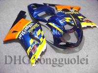 Wholesale GSXR600 GSXR750 Telefonica yellow blue Body Kit Fairing for Suzuki GSXR GSXR750 GSXR600 K1 Hi Q