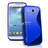 For Samsung Case Dirt-resistant S Line Wave Gel Case Cover For Samsung Galaxy Mega 5.8 i9150 i9152 + Free Screen Protector