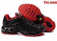 Wholesale Cheap running shoes Tn shoes Athletic sneakers black red color brand sport shoes with box