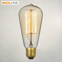 Wholesale Special Price Fashion Incandescent Vintage Light Bulb Edison Bulb Fixture E27 V W mm Antique Lamp Bulbs