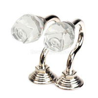 Wholesale 2PCS Vintage Crystal Wall Tieback Curtain Hook Tassel Towel Hanger Silver NI5L