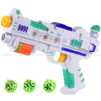 Wholesale Electric light music gun toy gun luminous flash gun vocalization electric projection cartoon