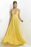 Wholesale New arrival Elegant Sweetheart Crystal Neckline Chiffon Floor length Prom Dress Evening Dresses