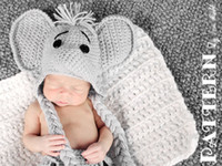 Unisex baby elephant photo - Hot New Arrival Newborn Elephant Hat and Diaper cover Baby Set Photo Prop set