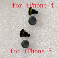 Earphone Jack Plugs screw jack - DHL Mix High Quality Headphone Jack Replacement Covers Screw Seal Cap Caps for iPhone S iphone S Waterproof Case Grey Black
