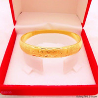 Cheap 10M gold -plated bangle bracelet flower cars plated bracelet bridal wedding jewelry over a hundred wholesale