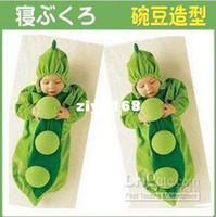 Vest Cold Weather 2XS Wholesale - Single Layer Baby Receiving Sleepsacks Green Pea Sleeping Bag baby pajamas rompers Free sh