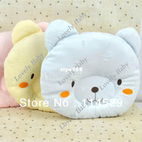 Wholesale Cute Baby memory foam pillow Infant cotton Pillows Flat Head Toddler Sleeping Pillows