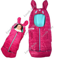 Vest baby foot muff - Baby Cute Sleeping Bag Safety foot muff Wrap for pram stroller Crib Sleeping Bag Rose Red