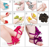 Wholesale freee shipping pairs new foot flower baby shoes flower top baby shoes m001