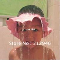 Wholesale freeshipping dropshipping Baby Child Kid Shampoo Bath Shower Wash Hair Shield Hat Cap Yellow Pink