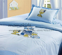 Three-piece beding sheets - piece Children Room Cartoon Bedding Sets comes with pillowcase beding sheet
