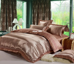 Wholesale of European luxury cotton satin drill jacquard wedding home textile duvet cover
