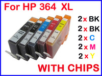 Wholesale 10 ink cartridge with chip compatible for HP HP364XL Photosmart premium C309a C309n g C310a C410b Photosmart estation C510a