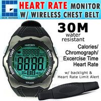 Wholesale M03W114 Digital Heart Rate Monitor Fitness Watch Wireless Chest Strap Sensor Belt Sport bpm Calorie Counter m Water Resistant