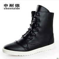 Wholesale New arrival hot sale Korean version British male trend Martin high top lace up winter popular Boots EU38