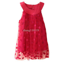 Wholesale shij183 Christmas dress baby girls teenage age green rose red polka dot vintage costumes girl dress children clothing