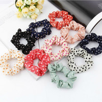 Wholesale Hair accessory polka dot headband hair rope tousheng fabric hair accessory hair rubber band