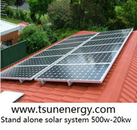 Wholesale 1500W on grid solar power system roof home solar energy system includes solar panels and grid tie pv inverter for EU Asia Africa Australia