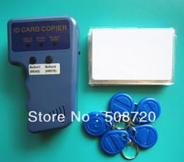Wholesale RFID Handheld Duplicator KHZ Card copier writer EM4305 rewritable tags T5577 rewritable cards
