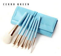 Wholesale Authentic cerro qreen natural goat hair with seven professional brush sets makeup brush brush set sets color