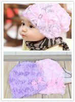 Girl Summer Crochet Hats Free shipping Children Knit Hat Baby beanie Lace Hat Infant handmade flower hat girls Crochet caps Christmas Gift