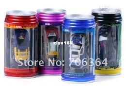 Wholesale Free gift New arrival Mini Remote Control RC car rc car Toy coke can mini car aluminium CA