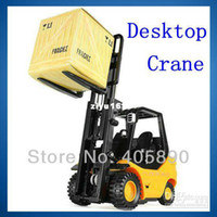 airplane engineering - Desktop Engineering Forklift Creative Car Toy with Remote Control for Office Trend
