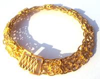 Femmes Noble / 24k or jaune bracelet papillon bijoux artistique 100% or véritable homme, pas solide non l'argent.