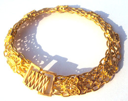 Wholesale Noble Womens Men s k Yellow gold butterfly bracelet Artistic jewelry real gold not solid not money