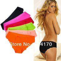 Wholesale fashion briefs short women pink seamless panties DuPont Ultra thin Cozy Women Underwear Briefs